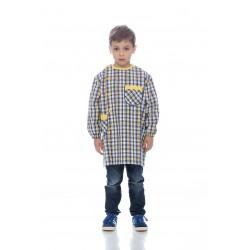 Bata Quadrados Amarelo Rapaz